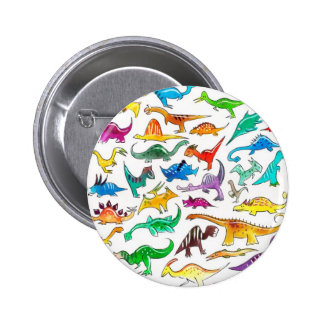 'Dinosaurs for Beginners' Button Badge