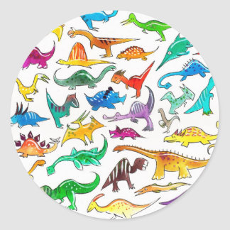 'Dinosaurs for beginners' Stickers (sheet of 20)