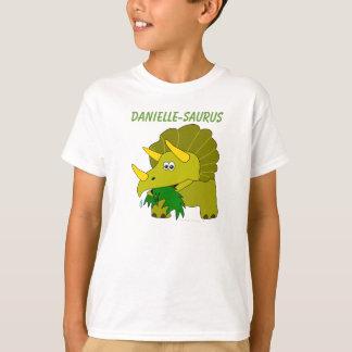Dinosaurs For Kids Custom Name Fun Triceratops T-Shirt