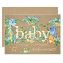 Dinosaurs Gender Neutral Baby shower Invitation