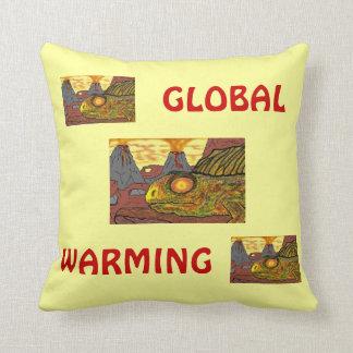 DINOSAURS GLOBAL WARMING HUMOROUS FUNNY PILLOWS