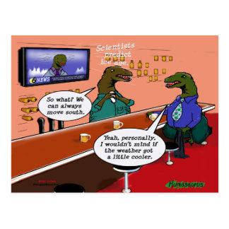 Dinosaurs in a Bar Postcard