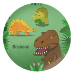 Dinosaurs in the Jungle Personalized Name Dinner Dinner Plates