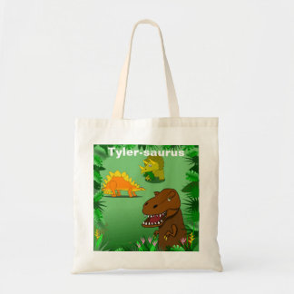 Dinosaurs in the Jungle Personalized Reusable Bag
