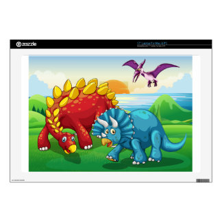 Dinosaurs in the park decals for laptops