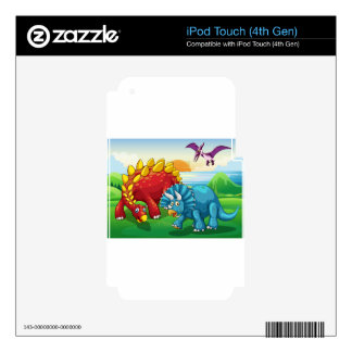Dinosaurs in the park skins for iPod touch 4G