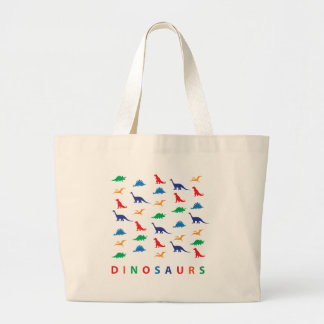 Dinosaurs Large Tote Bag