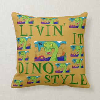 DINOSAURS - LIVIN' IT DINO STYLE Pillows