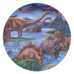 Dinosaurs Melamine Plate