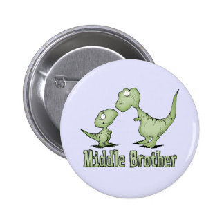 Dinosaurs Middle Brother Pinback Buttons