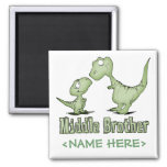 Dinosaurs Middle Brother Magnets