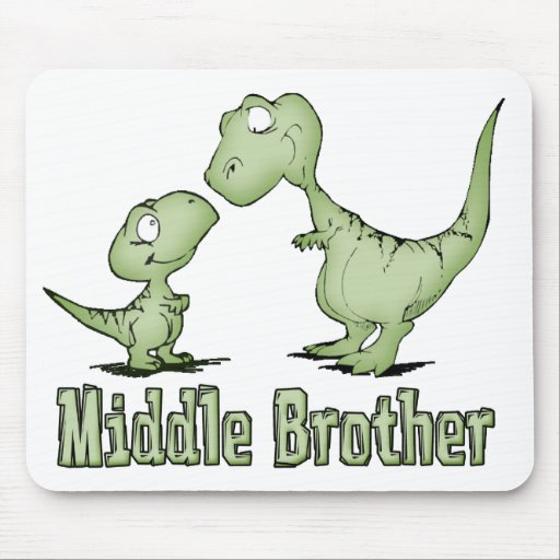 Dinosaurs Middle Brother Mouse Pad