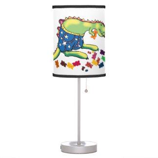 Dinosaur's midnight snack desk lamp