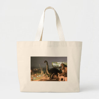 Dinosaurs of Route 66 Large Tote Bag