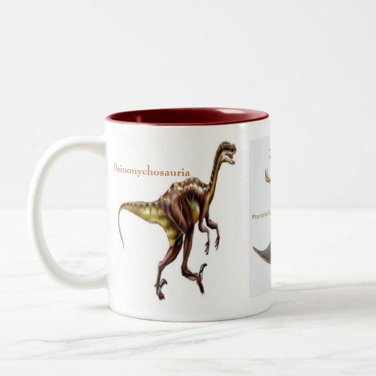 Dinosaurs on a mug