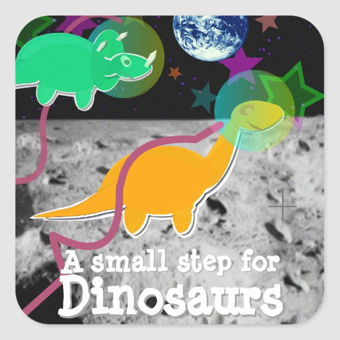 Dinosaurs on the Moon Stickers