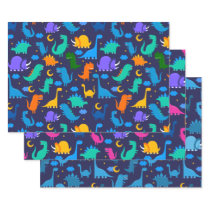 Dinosaurs Pattern Kids Birthday Party Wrapping Paper Sheets