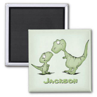 Dinosaurs Personalized 2 Inch Square Magnet
