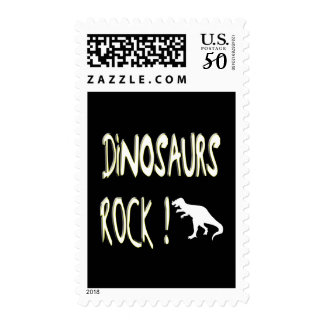 Dinosaurs Rock! Postage Stamps