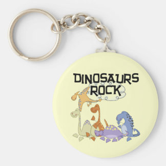Dinosaurs Rock Tshirts and Gifts Keychain