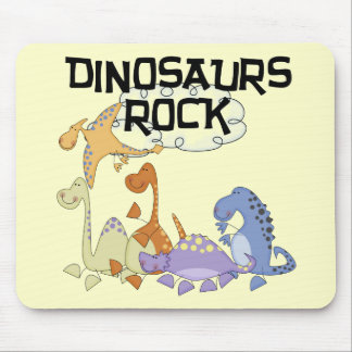 Dinosaurs Rock Tshirts and Gifts Mouse Pad