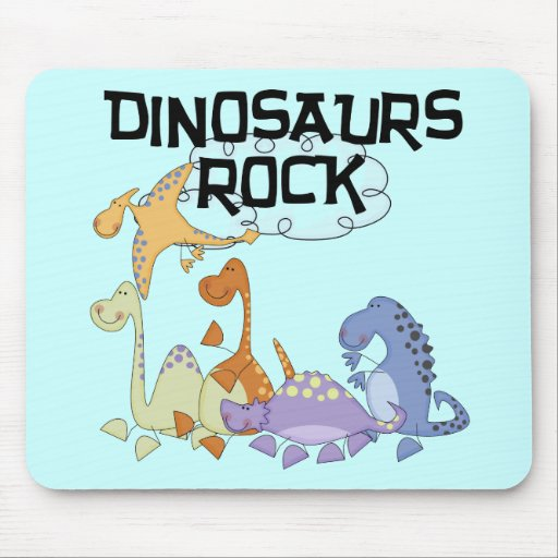 Dinosaurs Rock Tshirts and Gifts Mousepads