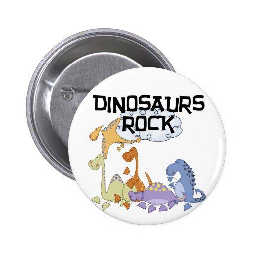 Dinosaurs Rock Tshirts and Gifts Pin