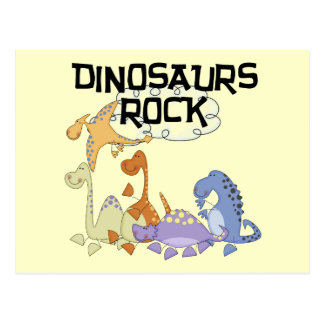 Dinosaurs Rock Tshirts and Gifts Postcard