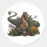 Dinosaurs Round Sticker