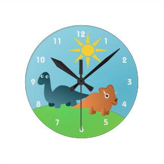 Dinosaurs Round Wall Clock