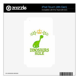 Dinosaurs Rule Skin For iPod Touch 4G
