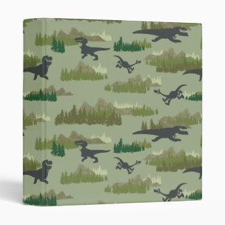 Dinosaurs Running Camo Pattern Binder