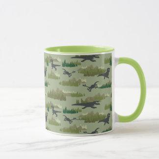 Dinosaurs Running Camo Pattern Mug
