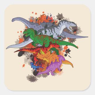 Dinosaurs Square Sticker
