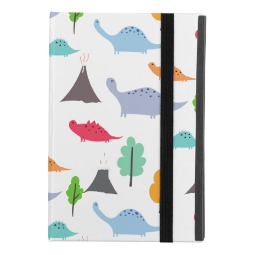 Dinosaurs volcanos trees colorful customizable iPad mini 4 case