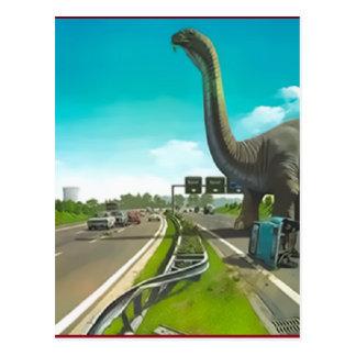 dinossauro postcard