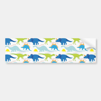 Dinosuar Designs Blue and Green Pattern Dino Gifts Bumper Sticker