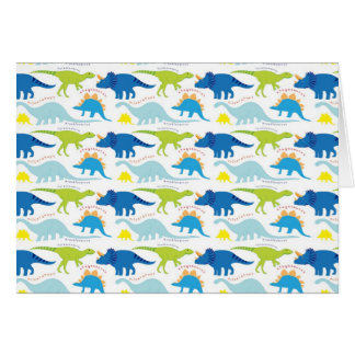 Dinosuar Designs Blue and Green Pattern Dino Gifts Card