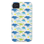 Dinosuar Designs Blue and Green Pattern Dino Gifts Case-Mate iPhone 4 Cases