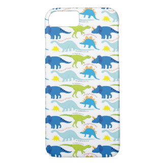 Dinosuar Designs Blue and Green Pattern Dino Gifts iPhone 7 Case