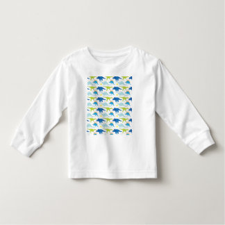 Dinosuar Designs Blue and Green Pattern Dino Gifts Tee Shirt