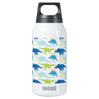 Dinosuar Designs Blue and Green Pattern Dino Thermos Water Bottle