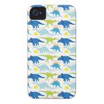 Dinosuar diseña los regalos azules y verdes de Din Case-Mate iPhone 4 Funda