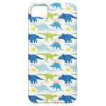 Dinosuar diseña los regalos azules y verdes de Din iPhone 5 Case-Mate Funda