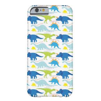 Dinosuar diseña los regalos azules y verdes de funda de iPhone 6 barely there