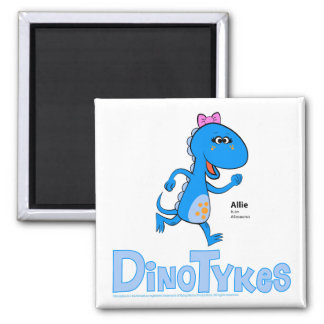 Dinotykes Allie is an Allosaurus 2 Inch Square Magnet