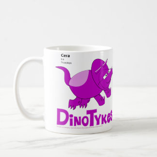 Dinotykes Cera is a Triceratops Classic White Coffee Mug