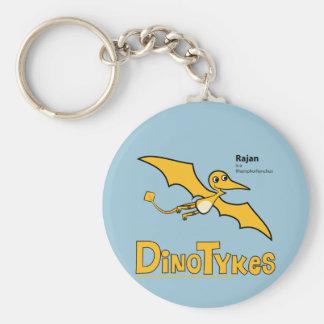 Dinotykes Rajan es un Rhamphorhynchus Llavero Redondo Tipo Pin