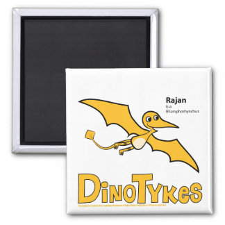 Dinotykes Rajan is a Rhamphorhynchus 2 Inch Square Magnet