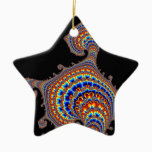 Dinozaur - Fractal Art Ceramic Ornament